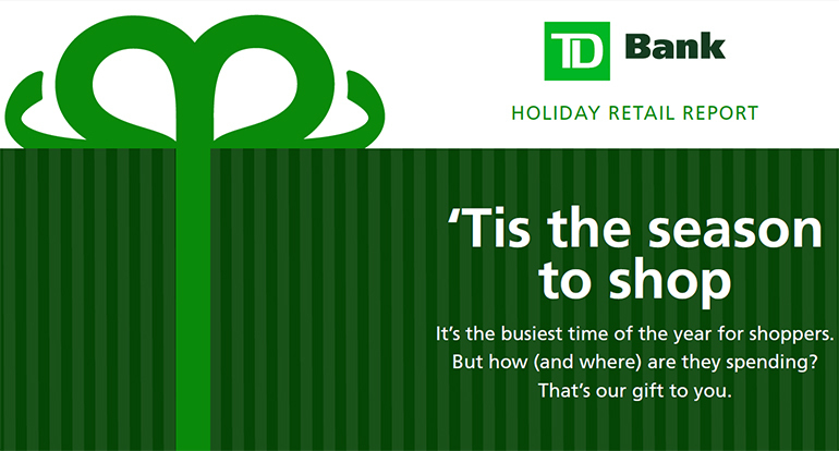 TD holiday spending infographic
