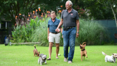 Danny Robertshaw and Ron Danta with dogs