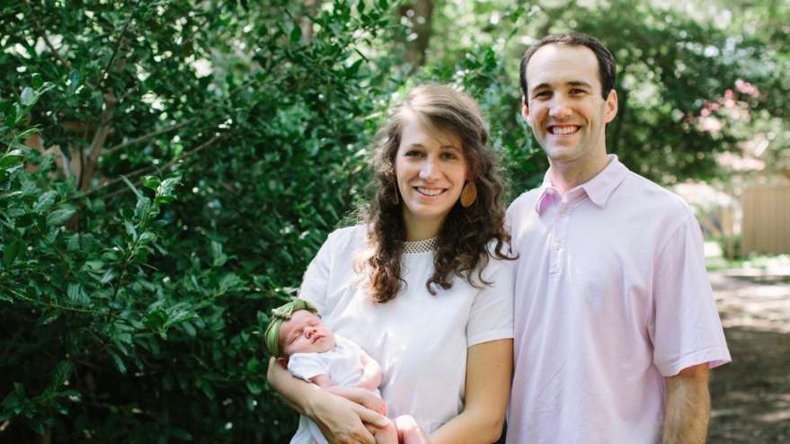 John's daughter Emily, her husband, and Baby