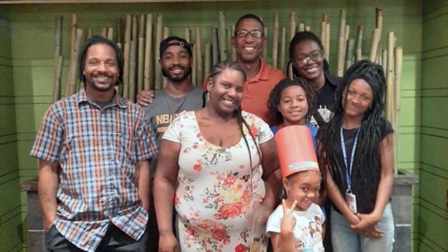 John Patton and his family