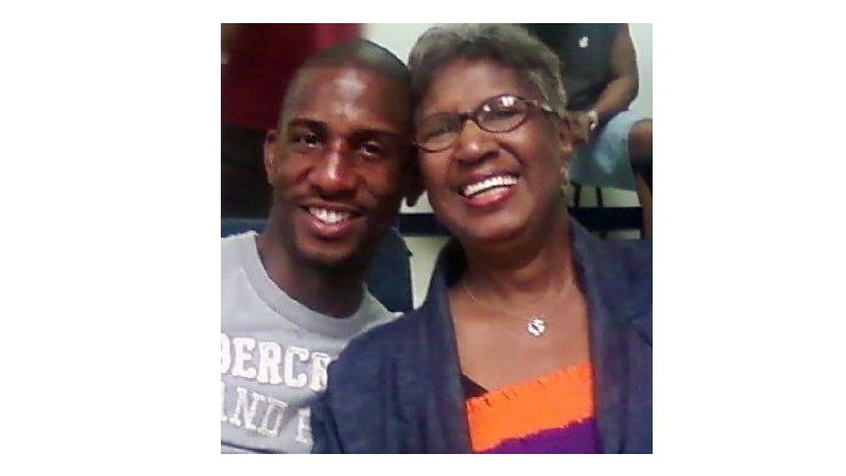 John Patton and his mother