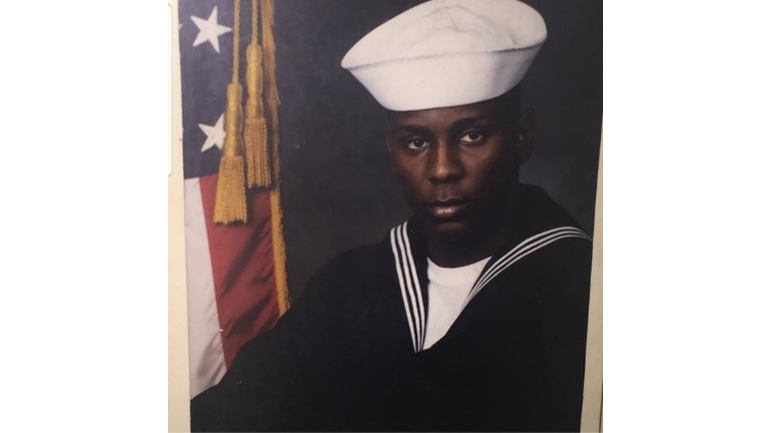 Jay Martin in his navy uniform